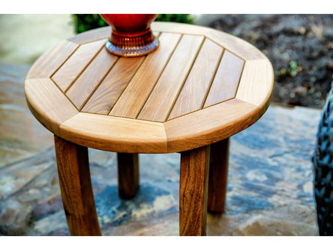 "Tortuga Outdoor Tortuga Outdoor Jakarta Teak Round Side Table (20"") Side Table - Rattan Imports"