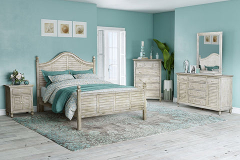 Sea Winds Trading Sea Winds Trading Tortuga II Queen Bed-Beach Sand B358QBED Bed - Rattan Imports