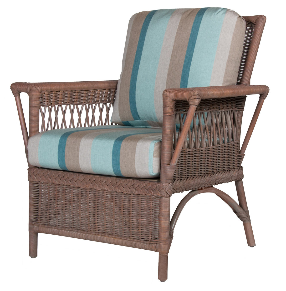 Designer Wicker & Rattan By Tribor Windsor Arm Chair by Design Wicker from Tribor Chair - Rattan Imports