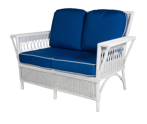 Designer Wicker & Rattan By Tribor Windsor Loveseat by Design Wicker from Tribor Loveseat - Rattan Imports