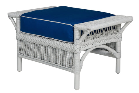 Designer Wicker & Rattan By Tribor Windsor Ottoman by Designer Wicker from Tribor Ottoman - Rattan Imports