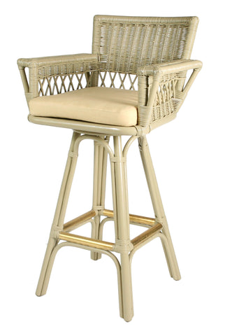 Designer Wicker & Rattan By Tribor Windsor Swivel Barstool by Designer Wicker from Tribor Bar Stool - Rattan Imports