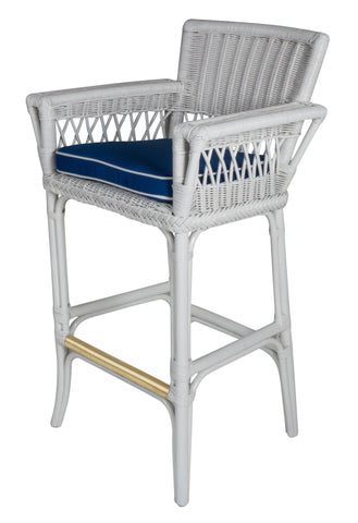 Designer Wicker & Rattan By Tribor Windsor Barstool With Arm by Design Wicker from Tribor Bar Stool - Rattan Imports