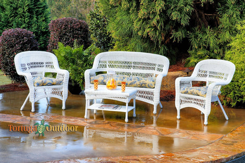 Tortuga Outdoor Portside 4 Piece Seating Set-Tortuga Outdoor-Rattan Imports