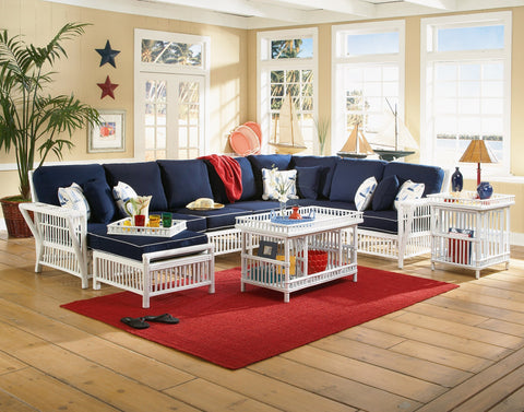 Designer Wicker & Rattan By Tribor Williamsburg Sectional Armless Love by Designer Wicker from Tribor Sectional - Rattan Imports