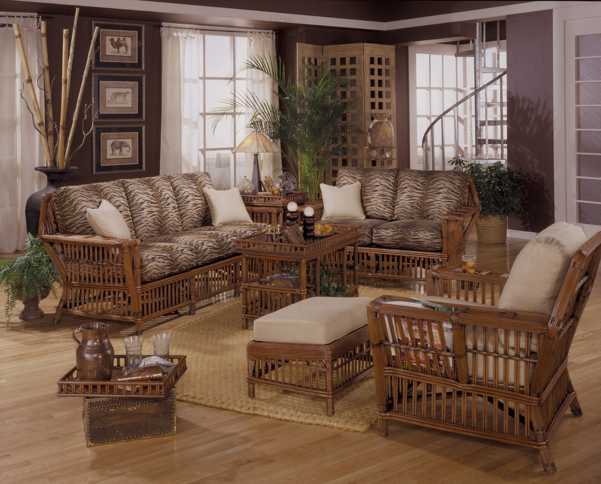 Designer Wicker & Rattan By Tribor Williamsburg Coffee Table With Tray by Designer Wicker from Tribor Coffee Table - Rattan Imports
