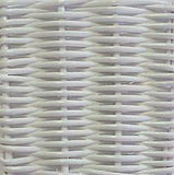 White Wicker Finish for Designer Wicker & Rattan By Tribor - Concord Dining Table Base -  -  - 1