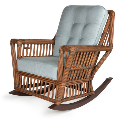 Designer Wicker & Rattan By Tribor Williamsburg Rocker by Designer Wicker from Tribor Rocking Chair - Rattan Imports