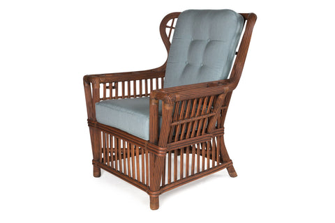 Designer Wicker & Rattan By Tribor Williamsburg Wing Chair by Designer Wicker from Tribor Chair - Rattan Imports