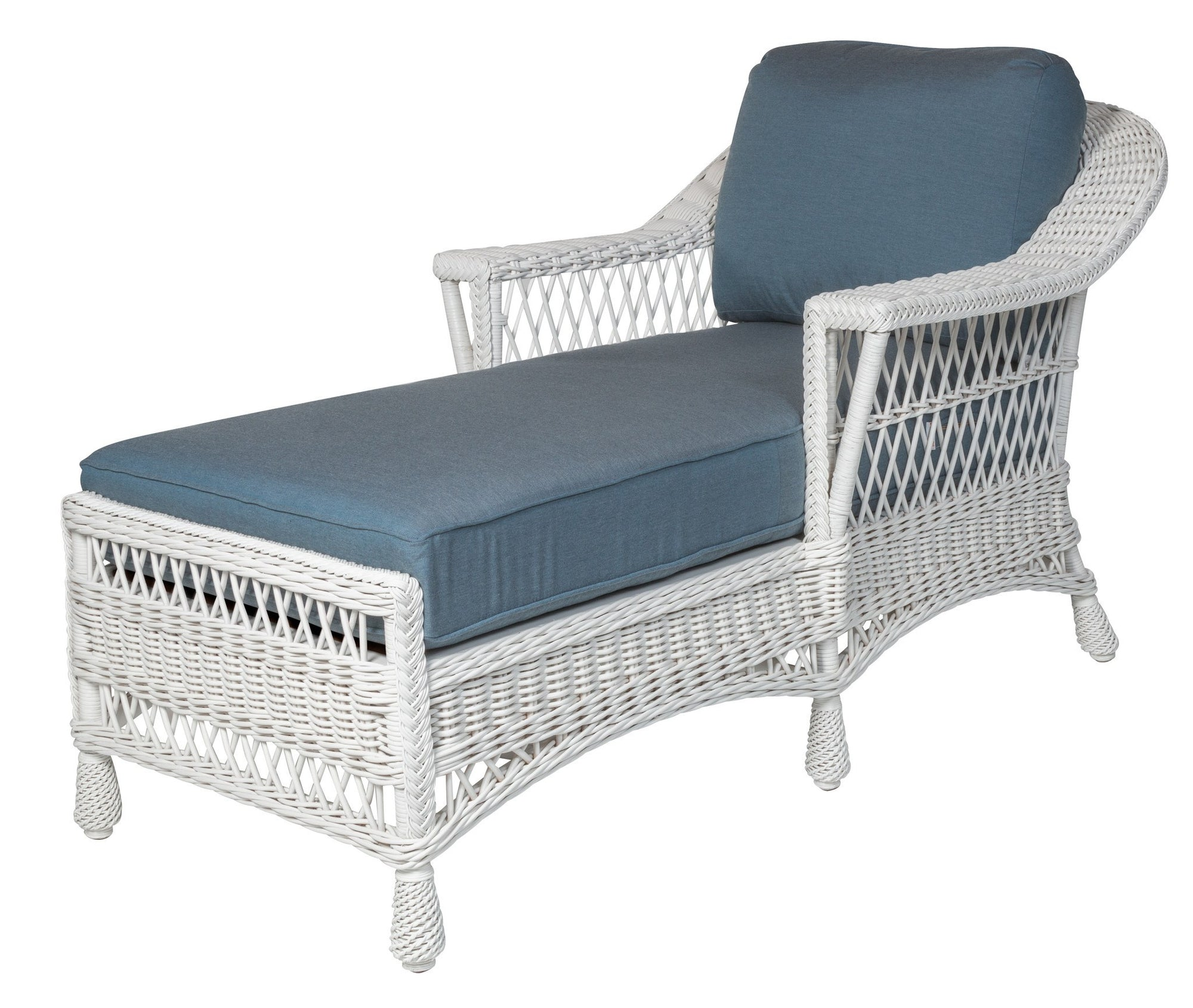 Designer Wicker & Rattan By Tribor Designer Wicker Bar Harbor Chaise Lounge Chair Lounge Chair - Rattan Imports