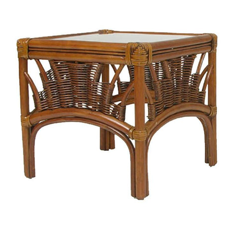 Palm Springs Rattan - Rattan Bunching Table Pecan Glaze Satin 4428 - Pecan Glaze -  - 1