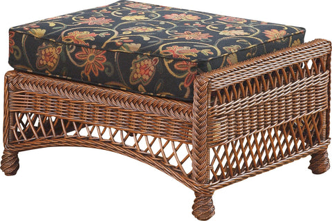 Designer Wicker & Rattan By Tribor Designer Wicker by Tribor Bar Harbor Sectional Ottoman Ottoman - Rattan Imports