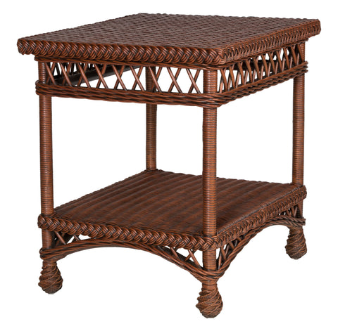 Designer Wicker & Rattan By Tribor - Bar Harbor End Table -  -  - 1