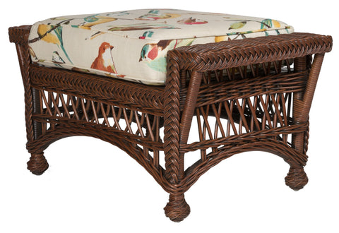 Designer Wicker & Rattan By Tribor Designer Wicker by Tribor Bar Harbor Ottoman Ottoman - Rattan Imports