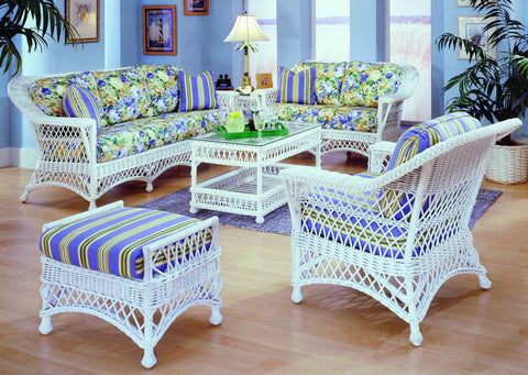 Spice Islands Spice Islands Bar Harbor Futon End Table White End Table - Rattan Imports