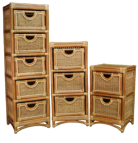 Spice Islands Spice Islands Spice Island 3 Drawer Unit Natural Drawer - Rattan Imports