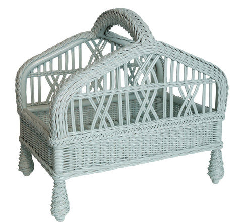 Designer Wicker & Rattan By Tribor English Manor Magazine Rack Accessory - Rattan Imports