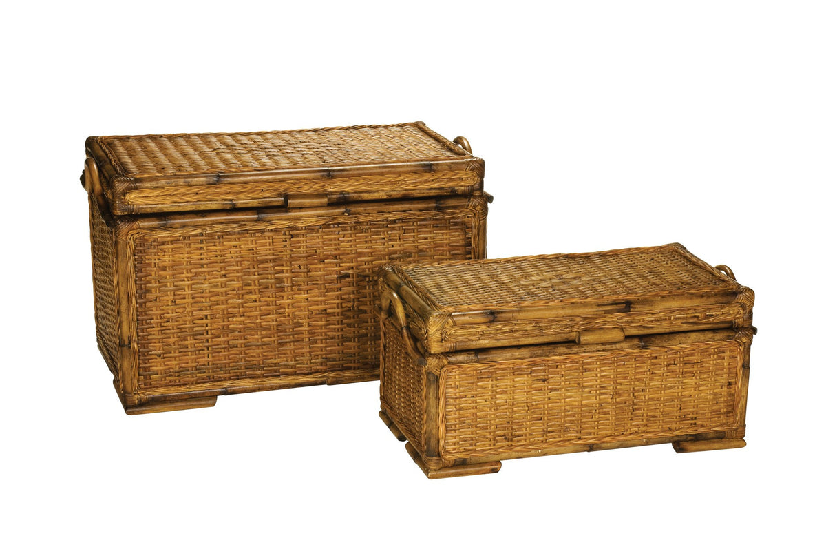 Designer Wicker & Rattan By Tribor Clarissa Wicker Storage Trunks Storage - Rattan Imports