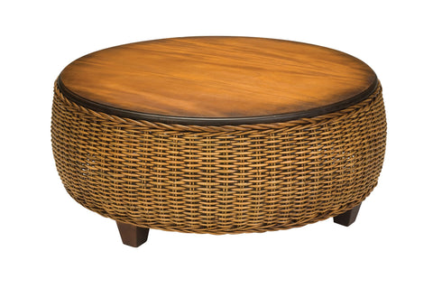 Designer Wicker & Rattan By Tribor Clarissa Porch Coffee Table Coffee Table - Rattan Imports