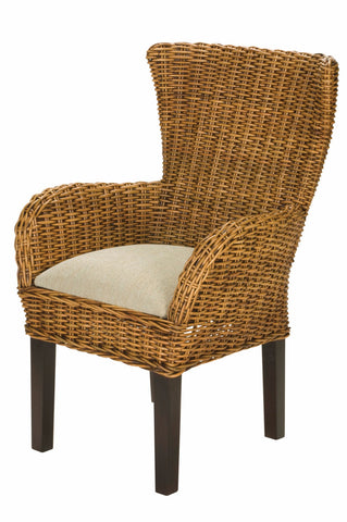 Designer Wicker & Rattan By Tribor - Clarissa Porch Dining Arm Chair -  -  - 1