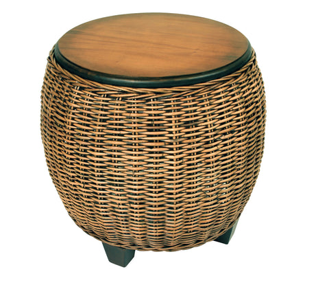 Designer Wicker & Rattan By Tribor - Clarissa Porch End Table -  -  - 1