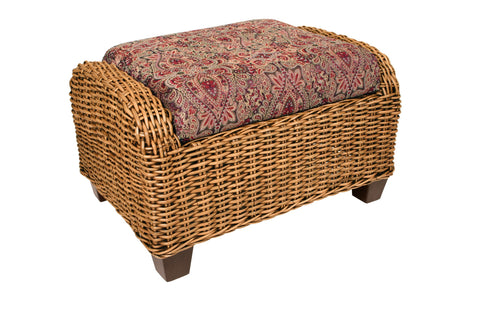 Designer Wicker & Rattan By Tribor - Clarissa Porch Ottoman -  -  - 1