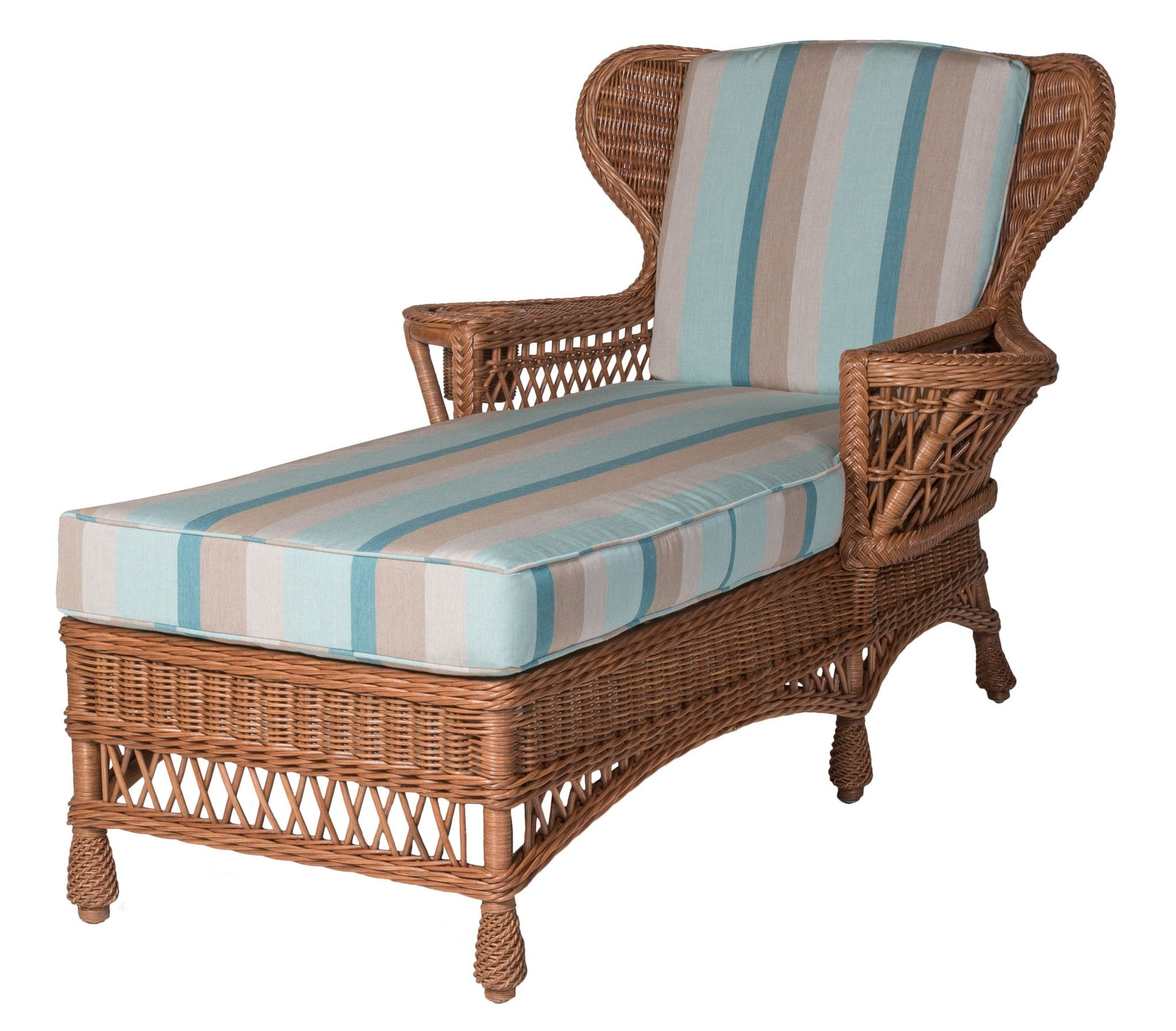 Designer Wicker & Rattan By Tribor Concord Chaise by Designer Wicker from Tribor Lounge Chair - Rattan Imports