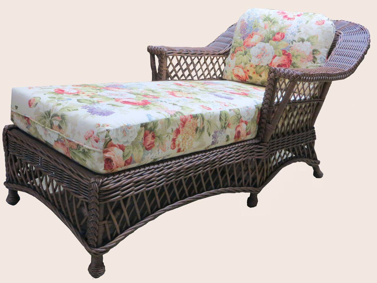 Spice Islands Spice Islands Bar Harbor Chaise Lounge Brownwash Lounge Chair - Rattan Imports