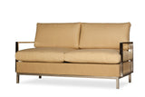 Lloyd Flanders Elements Settee With Stainless Steel Arms & Back
