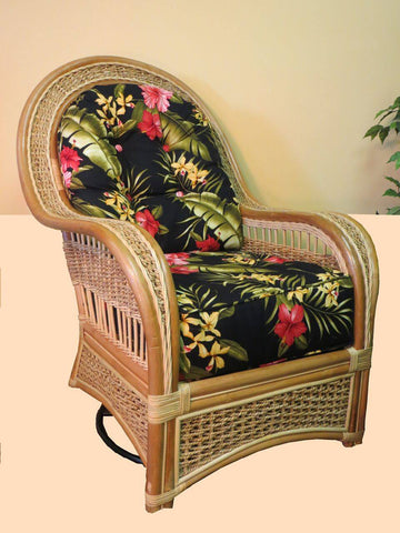Spice Islands Spice Island Swivel Rocker Natural Swivel Rocking Chair - Rattan Imports
