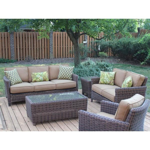 South Sea Rattan Del Ray 5-Piece Sofa Set