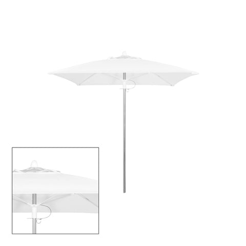Source Furniture Source Furniture Rio 8' Square Single Vented Umbrella - Rattan Imports