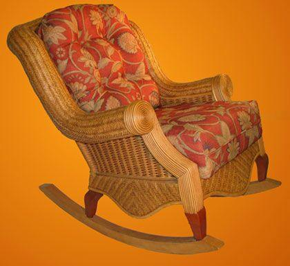 Spice Islands Spice Islands Palm Beach Rocker Cinnamon Rocking Chair - Rattan Imports