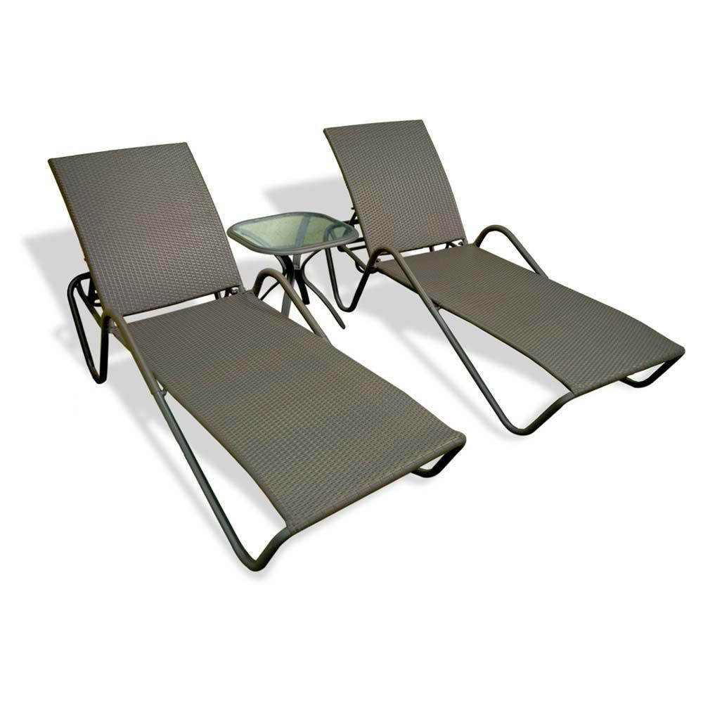 Tortuga Outdoor Tortuga Outdoor Fiji Sunlounger (Pair, Set of 2) Lounge Chair Set - Rattan Imports