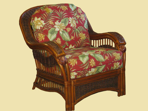 Spice Islands Spice Islands Seascape Arm Chair Brownwash Chair - Rattan Imports