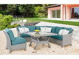 Mayfair 5-Piece Conversation Set with Glass-Top Table by South Sea Rattan