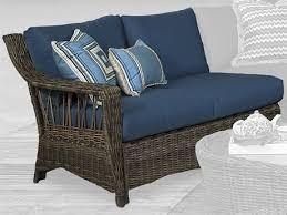South Sea Rattan St. John One Arm Loveseat Left-Side Facing