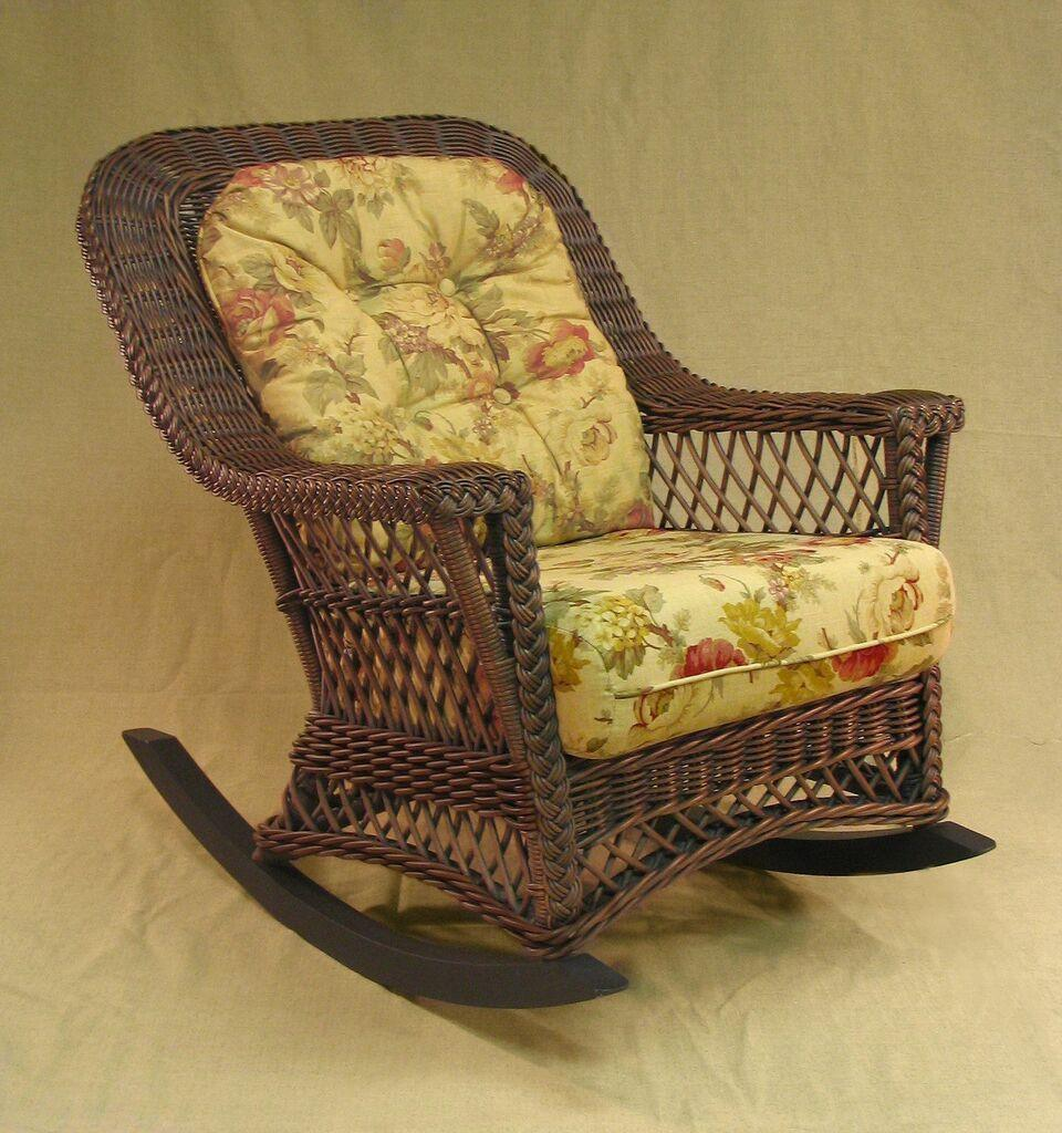 Spice Islands Spice Islands Bar Harbor Rocker Brownwash Rocking Chair - Rattan Imports