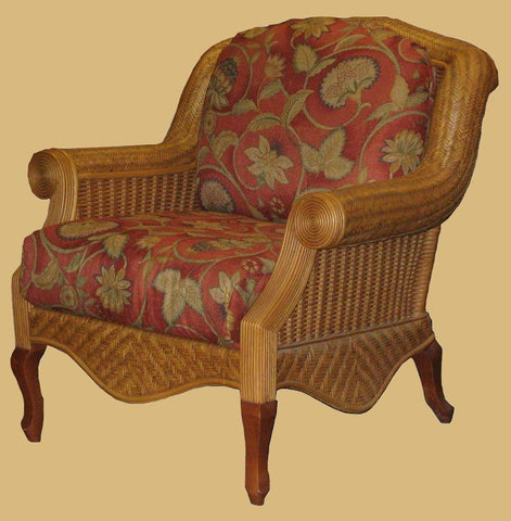Spice Islands Spice Islands Palm Beach Arm Chair Cinnamon Chair - Rattan Imports