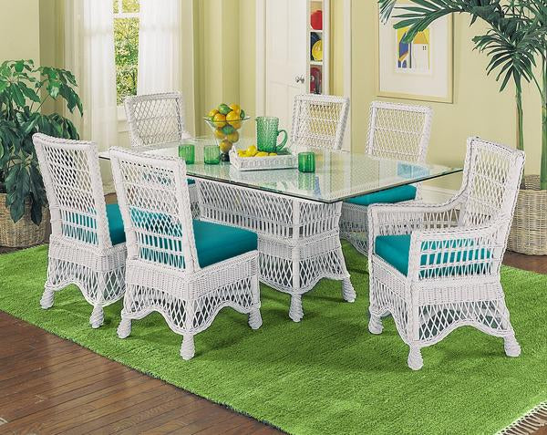 Rattan Imports Naples Wicker Dining Table by Designer Wicker from Tribor Dining Table - Rattan Imports