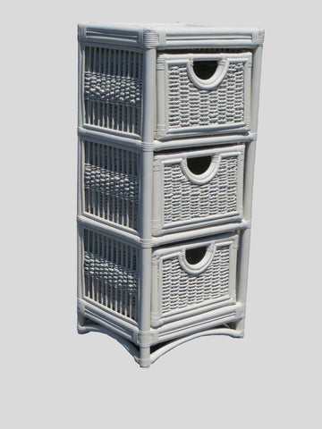 Spice Islands Spice Islands Regatta 3 Drawer Unit White Drawer - Rattan Imports