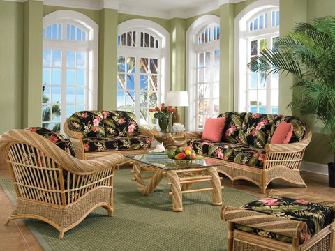Spice Islands Spice Islands Maui Twist Sofa Natural Sofa - Rattan Imports