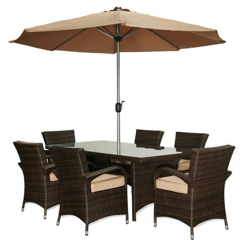 Thy-HOM - Bora 8-Piece All-Weather Wicker Dining Set -  - Thy-HOM Patio Dining Sets - 1
