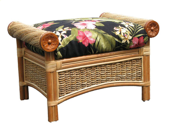 Spice Islands - MAUI TWIST OTTOMAN NATURAL -  -