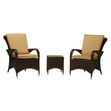 Thy-HOM - Sayan 3-Piece All-Weather Wicker Patio Conversation Set -  - Conversation Set