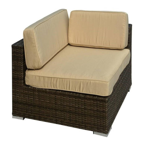 ... Thy HOM   Barton 6 Piece All Weather Dark Brown Wicker Patio Sectional  ...