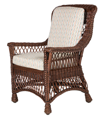 Designer Wicker & Rattan By Tribor Rockport Dining Arm Chair Dining Chair - Rattan Imports