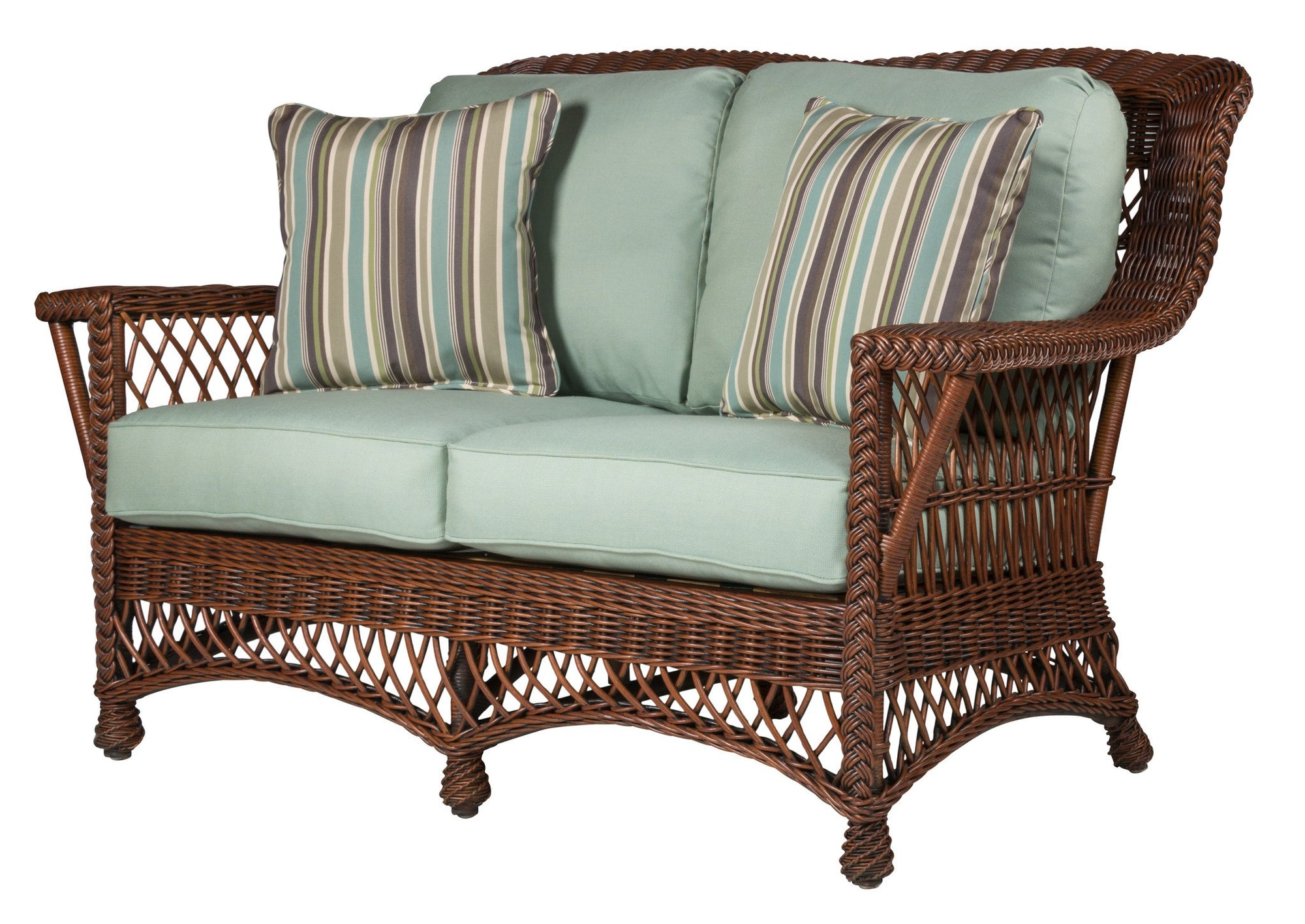 Designer Wicker & Rattan By Tribor Rockport Loveseat by Designer Wicker from Tribor Loveseat - Rattan Imports