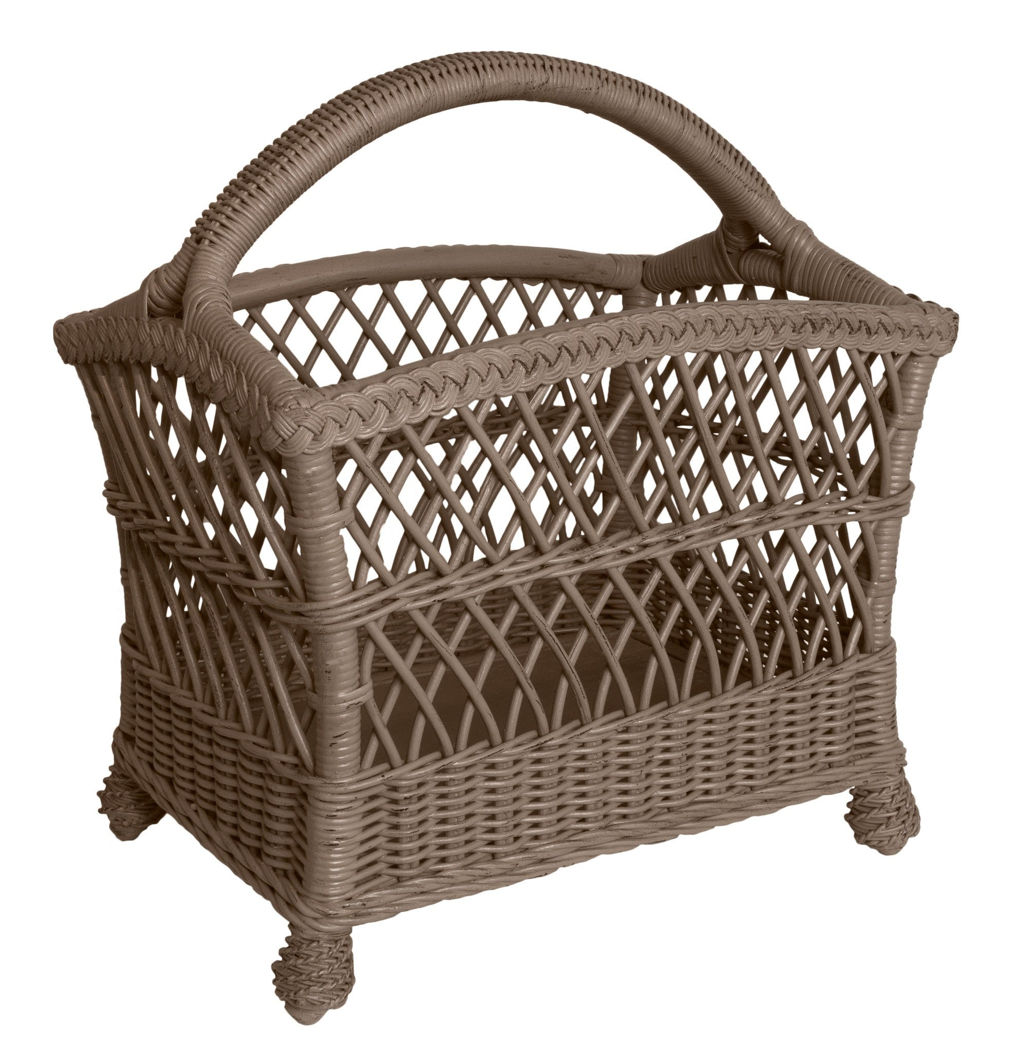 Designer Wicker & Rattan By Tribor Rockport Magazine Rack by Designer Wicker & Rattan By Tribor Accessory - Rattan Imports