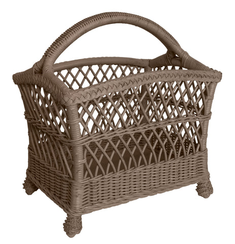 Designer Wicker & Rattan By Tribor - Rockport Magazine Rack -  -  - 1